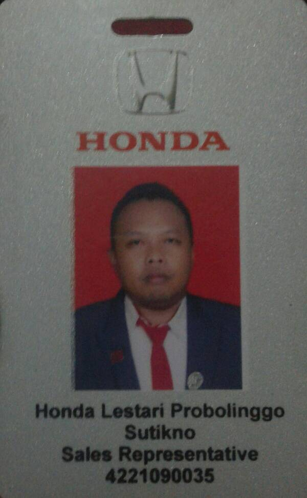 Sales Marketing Mobil Dealer Honda Probolinggo Suthe