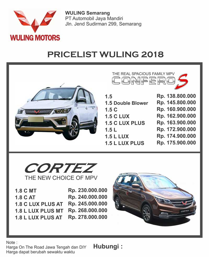 Harga Mobil Wuling By Ricko