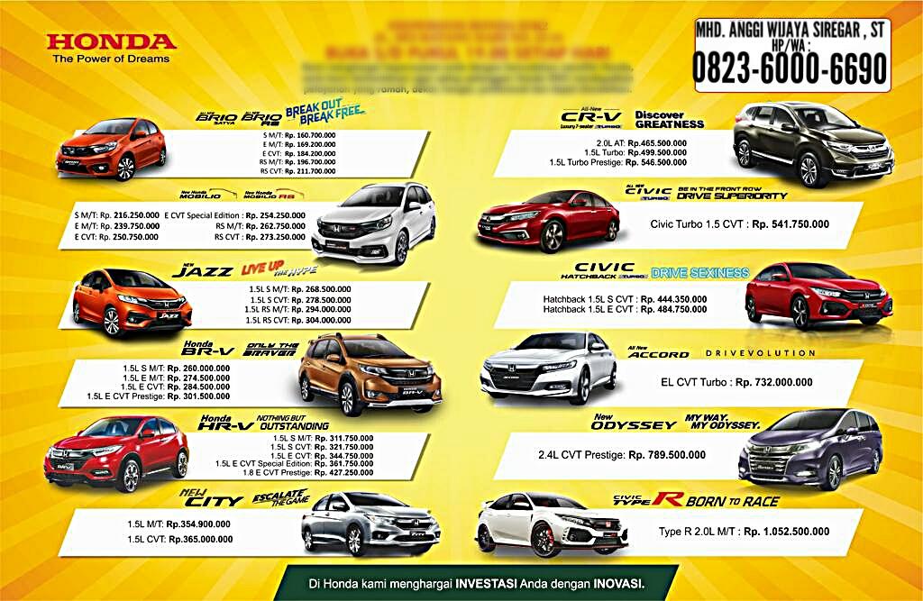 Harga Mobil Honda Medan By Anggi