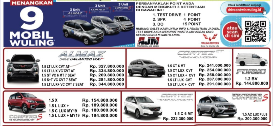 Harga Mobil Wuling By Brian
